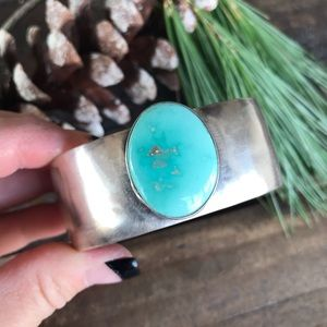 Jewelry - Navajo Sterling Silver Turquoise Handmade Cuff
